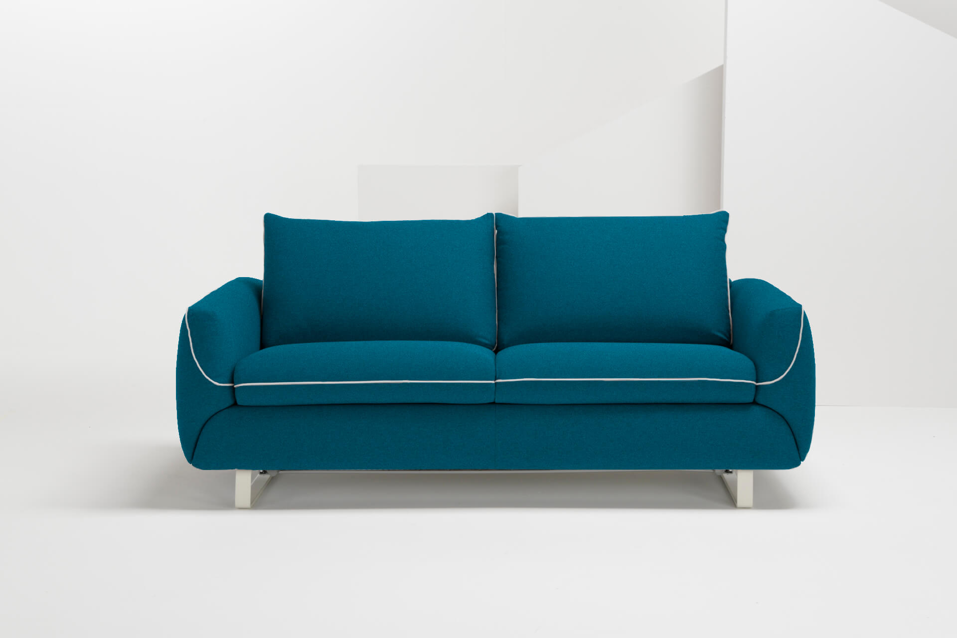 Blue Sofa Bed Rain Chenille Marcopolo Blue Sofa Bed By